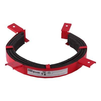 HydroFlame 4 in. Intumescent Pipe Collar