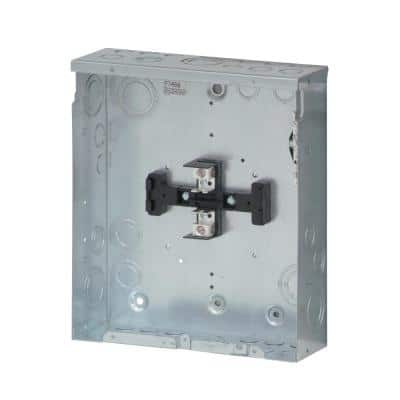 BR 125 Amp 4-Space 8-Circuit Indoor Main Lug Loadcenter with Flush Cover