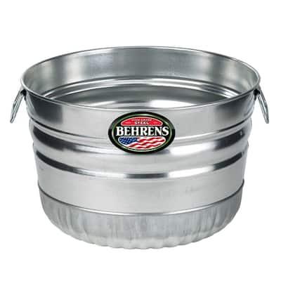 1 Bushel Galvanized Steel Utility Basket