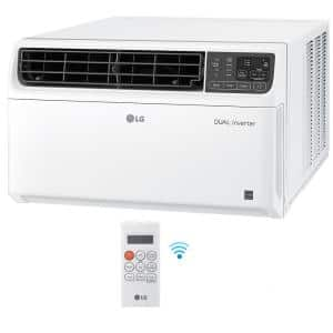 18,000 BTU 230/208-Volt Dual Inverter Smart Window Air Conditioner LW1817IVSM with WiFi and Remote in White