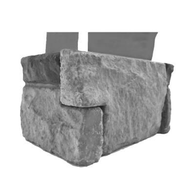 1.75 in. x 6 in. Slate Stone Veneer Siding (Corners)