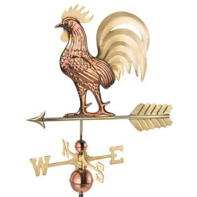 Proud Rooster Weathervane - Pure Copper and Brass