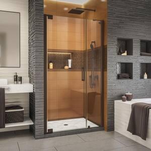 Elegance-LS 35-1/4 in. to 37-1/4 in. W x 72 in. H Frameless Pivot Shower Door in Oil Rubbed Bronze