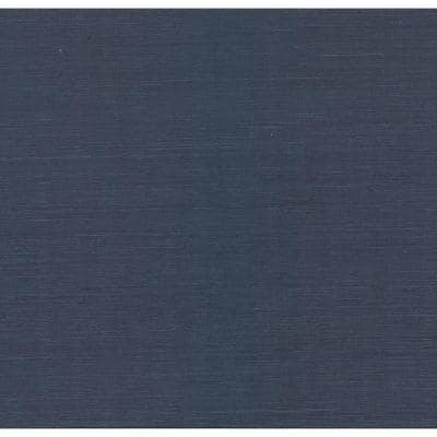Peninsula Navy Sisal Grasscloth Non-Pasted Wallpaper Roll (Covers 72 Sq. Ft.)