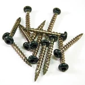 1-1/2 in. Stainless Steel Woodland Green Screws (12-Piece/Bag)