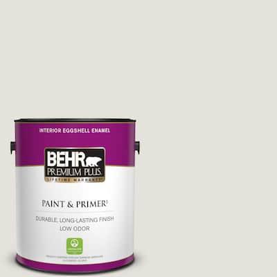 1 gal. #PPU18-08 Painters White Eggshell Enamel Low Odor Interior Paint & Primer