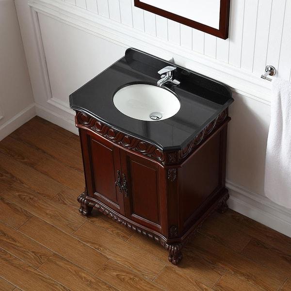 Ove Decors T 30 In W X 21 D, Cherry Bathroom Vanities