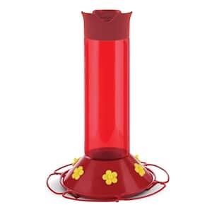 Hummer's Favorite Red Plastic Hummingbird Feeder - 30 oz. Capacity