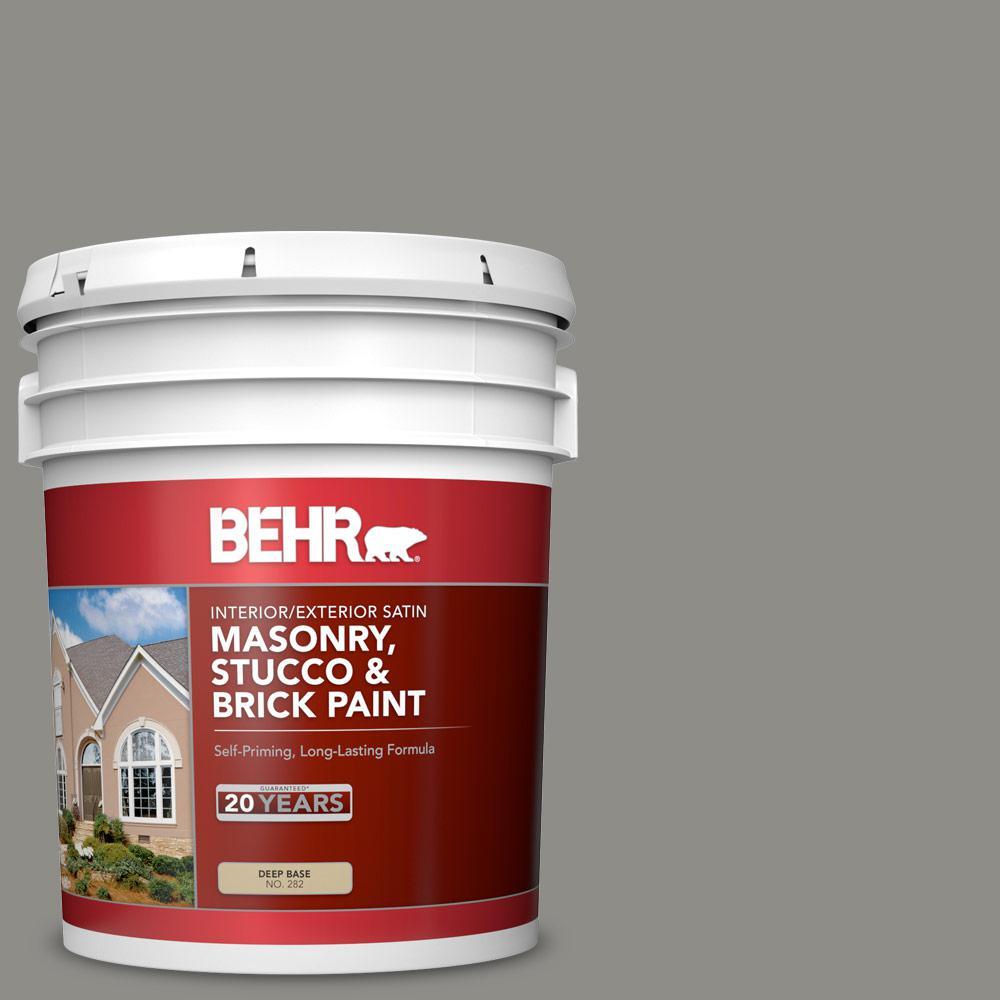 5 gal. #PFC-69 Fresh Cement Satin Interior/Exterior Masonry, Stucco and Brick Paint