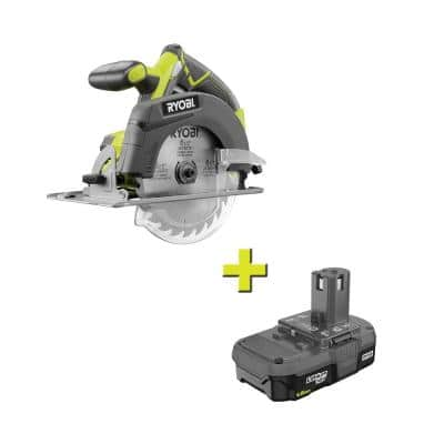 ONE+ 18V Cordless 6-1/2 in. Circular Saw with 1.5 Ah Compact Lithium-Ion Battery