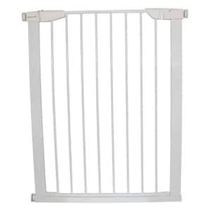 36 in. H x 29.5 in. to 32.5 in. W x 1 in. D Extra Tall Premium Pressure Gate White