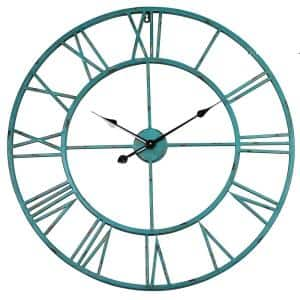 Yosemite Home Decor Grand Crown Black Red Oversized Wall Clock Cl19628137 The Home Depot