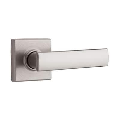 Vedani Square Satin Nickel Half-Dummy Door Lever