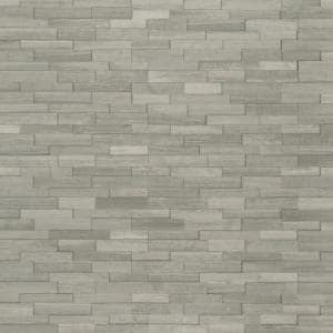 Gray Oak 3D Ledger Corner 6 in. x 6 in. x 6 in. Honed Marble Wall Tile (2.5 sq. ft./Case)