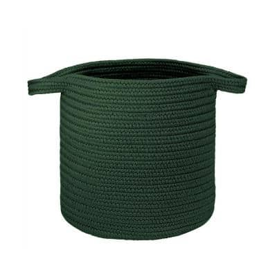 16 in. x 16 in. x 20 in. Hunter Green Addison Braided Laundry Basket