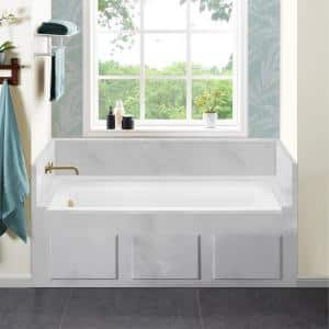Voltaire 60 x 30 in. Acrylic Left-Hand Drain with Integral Tile Flange Rectangular Drop-in Bathtub in White