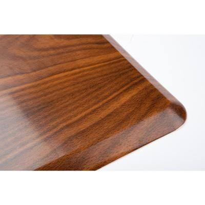 "Anti Fatigue 16.5"" x 27"" Light Brown Foam Durable and Waterproof Comfort Floor, Kitchen, and Standing Mat"