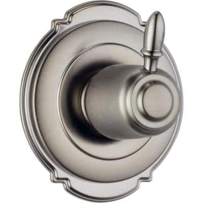 Victorian 1-Handle Wall-Mount 6-Setting Diverter Valve Trim Kit in Stainless (Valve Not Included)