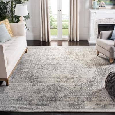 Adirondack Ivory/Silver 11 ft. x 15 ft. Area Rug