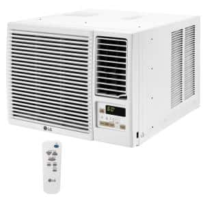 12,000 BTU 230-Volt Window Air Conditioner LW1216HR with Cool, Heat and Remote in White
