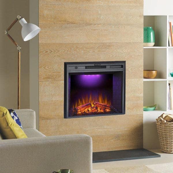 Glitzhome 35 In Electric Fireplace Insert Ef28t The Home Depot