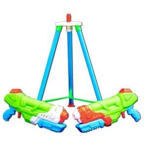 Multi-Colored Water Gun System with Automatic Fill Station and 2 Reverse Colored Water Guns