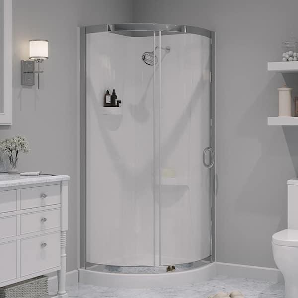 Ove Decors Breeze 32 In L X W, Corner Shower Glass Doors Home Depot