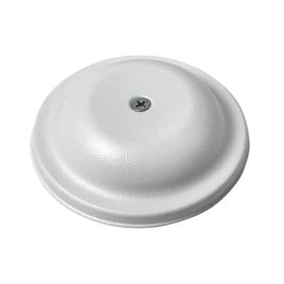 4 in. Plastic Bell Cleanout Cover Plate in White