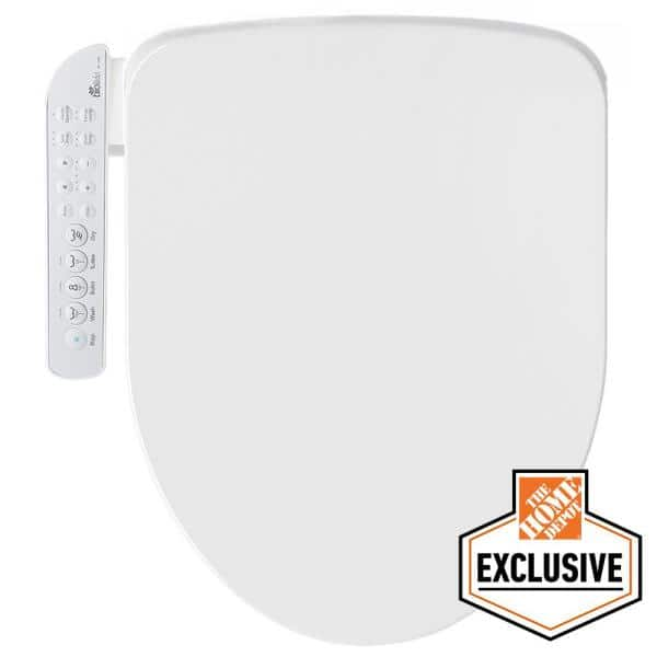 BioBidet Electric Bidet Seat for Elongated Toilets in White with Fusion Heating Technology | The Home Depot
