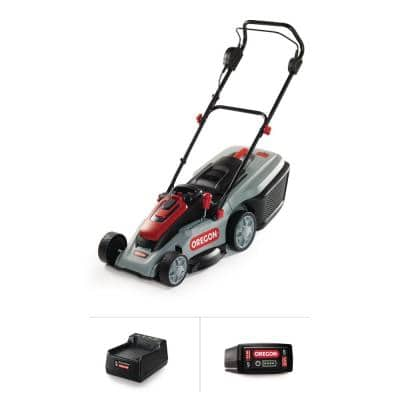 16 in. 40-Volt Brushless Lithium-Ion Cordless Battery Walk Behind Push Lawn Mower with 4.0 Ah Battery and Charger