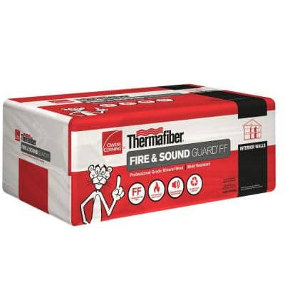 Thermafiber Fire & Sound Guard R-24 Unfaced Mineral Wool Insulation Batt 24 in. x 48 in.
