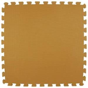 Premium Tan 24 in. x 24 in. x 5/8 in. Foam Interlocking Floor Mat (Case of 25)