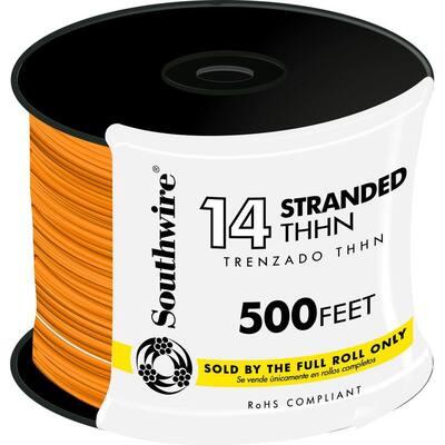 500 ft. 14 Orange Stranded CU THHN Wire