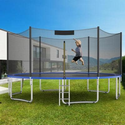 15 ft. Trampoline Recreational Jump Power with  Enclosure Net Ladder