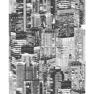 Luminocity Rust/Grey Wallpaper Sample