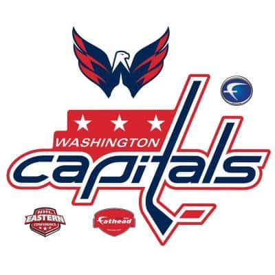 36 in. H x 53 in W Washington Capitals Logo Wall Mural