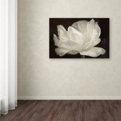 """30 in. x 47 in. """"White Tulip III"""" by Cora Niele Printed Canvas Wall Art"""
