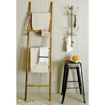 21 in. W x 72 in. H 5-Bar Ladder Hand-Crafted with Solid Bamboo