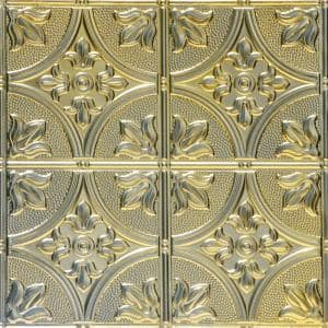 Tiptoe 2 ft. x 2 ft. Lay-in Tin Ceiling Tiles in Gold Nugget 12 (48 sq. ft. / box)