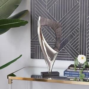 Black Abstract Aluminum Sculpture