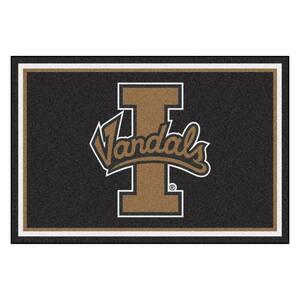 NCAA - University of Idaho Black 8 ft. x 5 ft. Indoor Area Rug