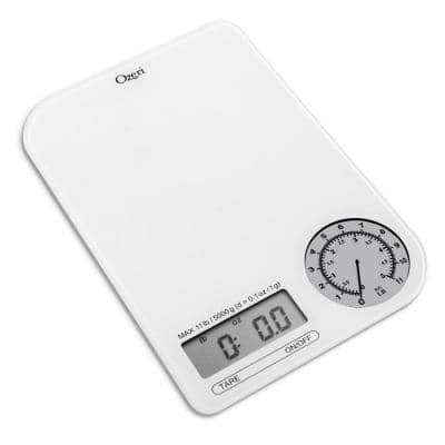 Rev Digital Kitchen Scale with Electro-Mechanical Weight Dial