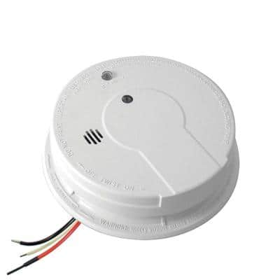 Code One Hardwired Smoke Detector with Ionization Sensor and 9-Volt Battery Backup