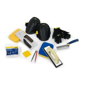 Tile Installation Kit with 1/4 in. x 1/4 in. x 1/4 in. Square-Notch Trowel (10-Piece)