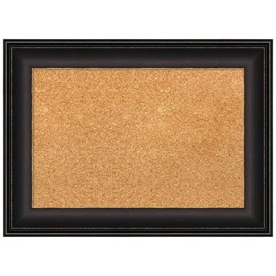 Trio Oil Rubbed Bronze 22.50 in. x 16.50 in. Framed Corkboard Memo Board