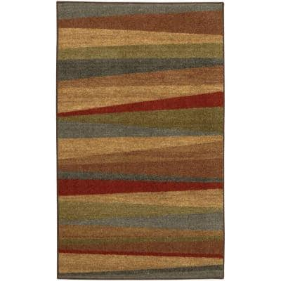 Mayan Sunset Sierra 1 ft. 8 in. x 2 ft. 10 in. Machine Washable Striped Contemporary Area Rug
