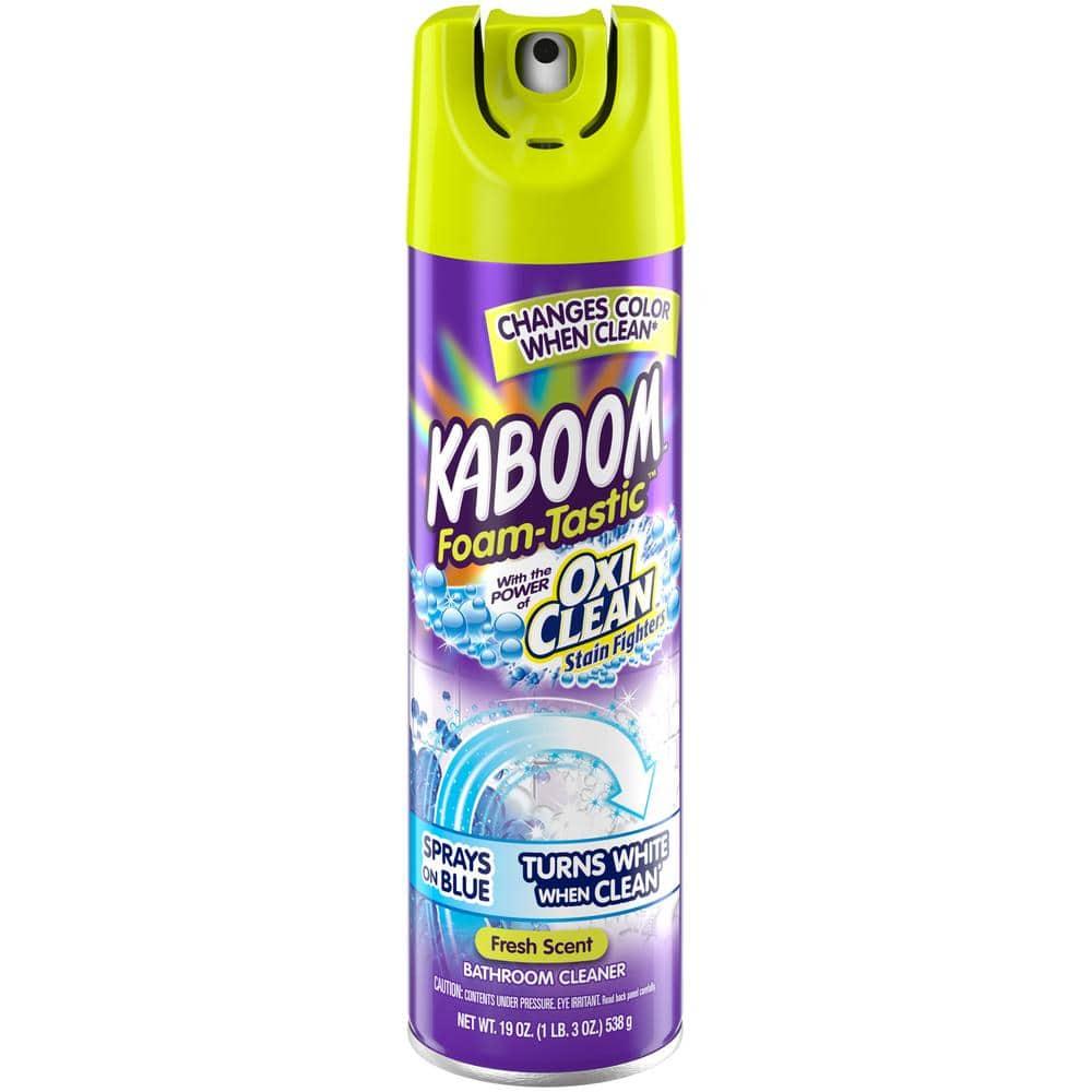 Kaboom 19 Oz Foam Tastic Fresh Bathroom Cleaner With Oxiclean 35270 The Home Depot