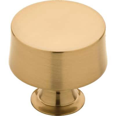 Drum 1-1/4 in. (32 mm) Champagne Bronze Round Cabinet Knob (25-Pack)