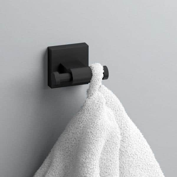 Franklin Brass Maxted Towel Hook In Matte Black Max35 Mb R The Home Depot