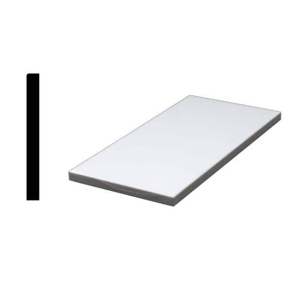 Siltech Innovative Windowsill Products Designer White 1 2 In X 4 7 8 In X 36 In Acrylic Sanded Eased Edge Window Sill Moulding N5a36dw The Home Depot